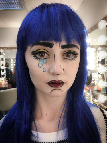 Pop art costume makeup