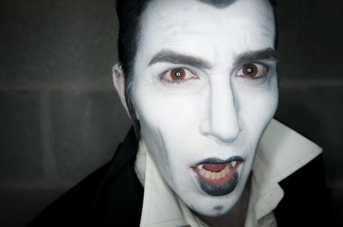 B&W costume makeup, Dracula