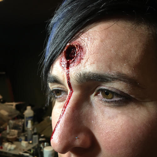 SFX, bullet hole/entrance wound