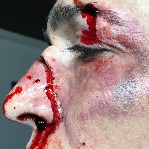 SFX, fight/bruise makeup, broken nose