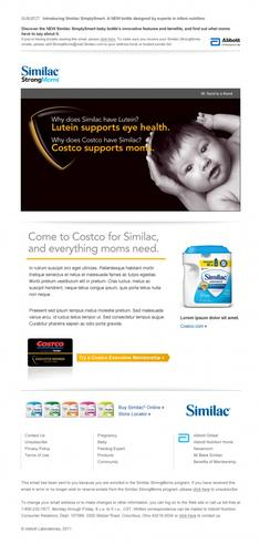 Similac Co-Branded Email