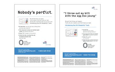 Citi Simplicity Card Print