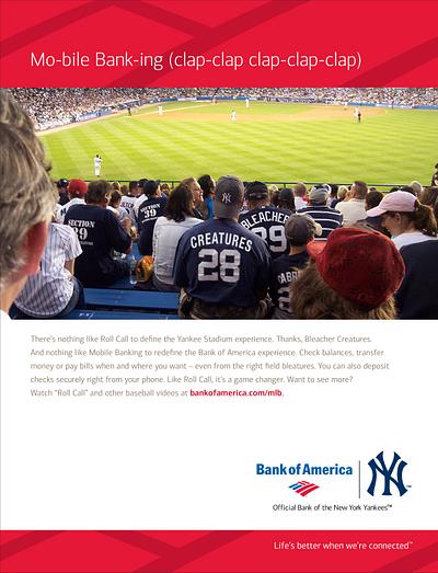 Bank of America Mobile Banking MLB Print