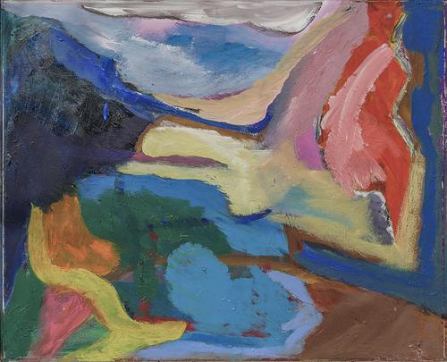 Horizont, 2018, Acryl auf Leinwand, 77 x 92