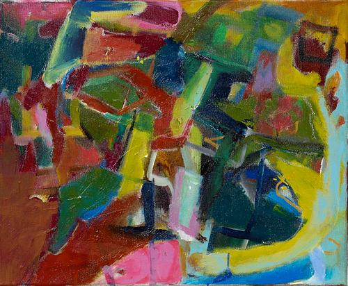 Impressionen in Farbe, 2018, Acryl und Kreiden auf Leinwand, 50 x 60