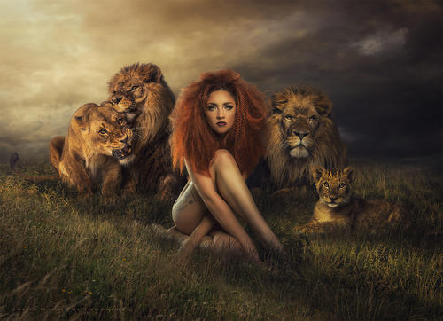 Lioness. Model photo by Colby Files