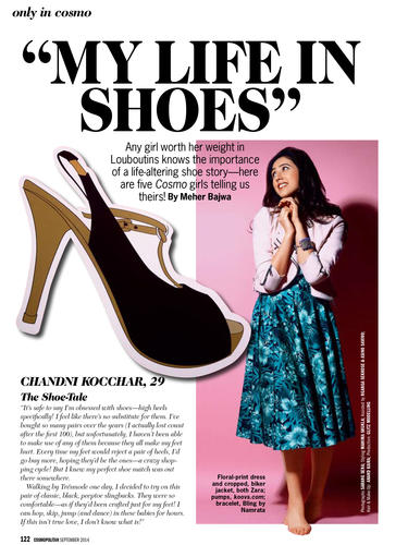 My Life My Shoes- Cosmopolitan Magazine