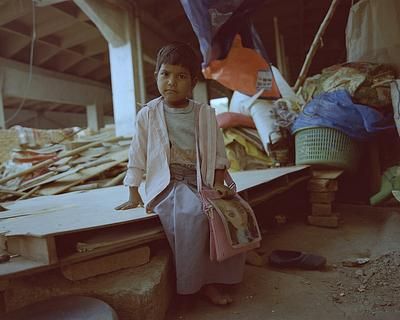 """""""Bade ho kar Police banna hai- par pata nahi kyun"""" (I want to become a police officer but dont know why""""Ritu, 4 goes to Nursery Class,  in a Public School (NP Sr Sec School, Aliganj) Her home was razed down by the civic dozers on January 30, 2019. Pictur"""