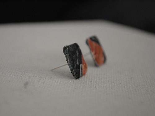 Recylced plastic earrings, € 10,00