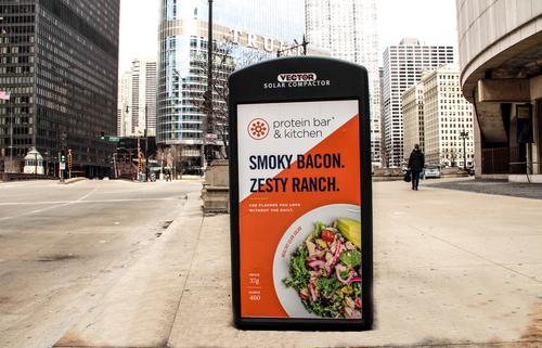 Solar Recycling Kiosk Bowls Campaign (Chicago)