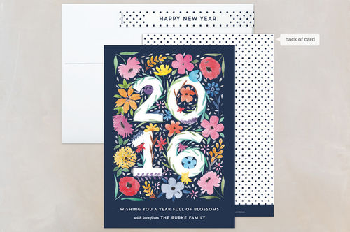 """""""blooming year"""" 2016 new year card"""