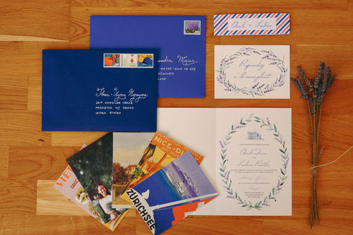 """""""provencial summer"""" wedding invitation suite"""