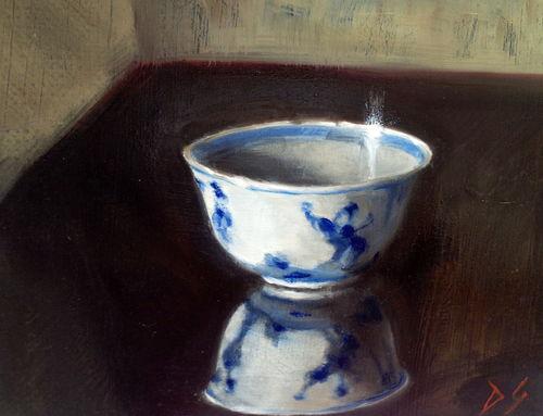 Chinese saki bowl