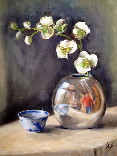 Artist reflected