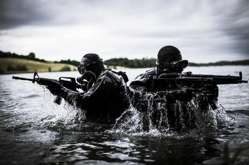 Special Forces Practice Aquatic Attacks