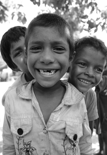 Close up smile