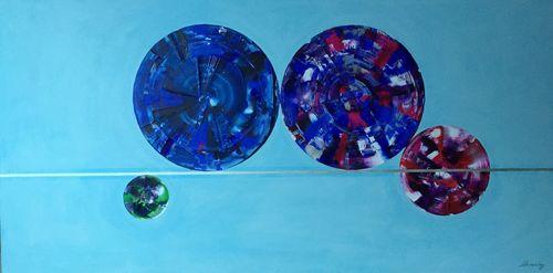 Blue Through (48x24x1.5 inches) Acrylic on Canvas 2015