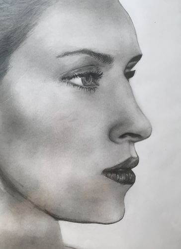 Face 2 Profile Sketch (10x12 inches) Graphite on Paper 2014