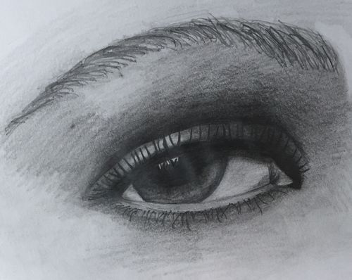 Eye 1 Sketch (10x12 inches) Graphite on Paper 2014