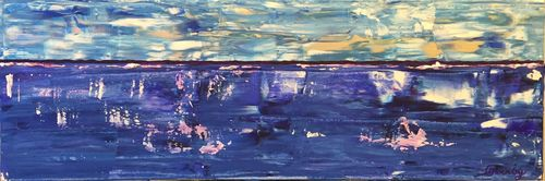 First Light (24x8x1.5 inches) Acrylic on Canvas 2015