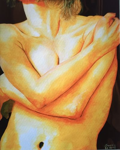 Female Body (24x18 inches) Watercolor 1998