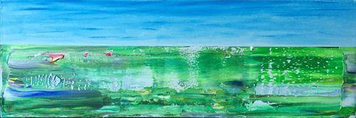 Field Tracks (24x8x1.5 inches) Acrylic on Canvas 2015