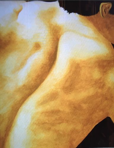 Male Back (24x18 inches) Watercolor 1998