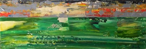 Moor Sunsets (24x8x1.5 inches) Acrylic on Canvas 2015
