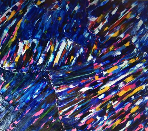 Mr Muscles (36x36x1.5 inches) Oil on Canvas 2004