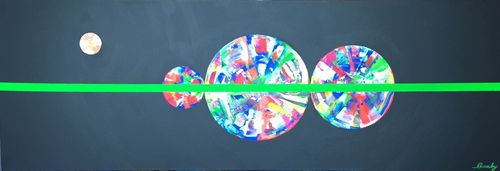 Unattached (48x16x1.5 inches) Acrylic on Canvas 2015