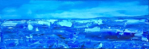 We Need a Bigger Boat (24x8x1.5 inches) Acrylic on Canvas 2015
