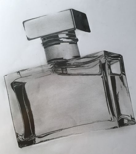 Perfume Bottle Sketch (10x10 inches) Graphite 2014