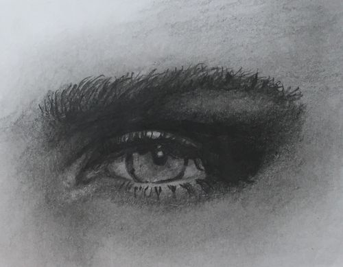 Eye 2 Sketch (10x12 inches) Graphite on Paper 2014