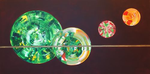 Candy Apple (48x24x1.5 inches) Acrylic on Canvas 2015