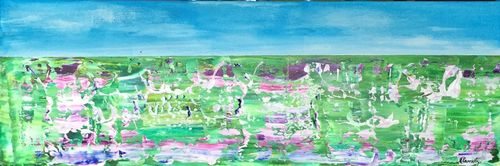 Lavender Fields (24x8x1.5 inches) Acrylic on Canvas 2015