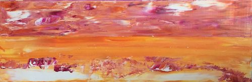 Desert Sunrise (24x8x1.5 inches) Acrylic on Canvas 2015