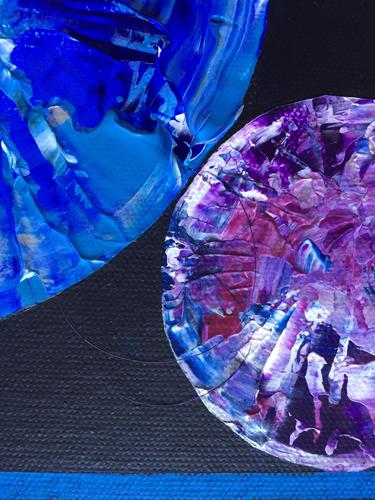Where There is Love - Diversity is Celebrated - Close up of Blue/Purple