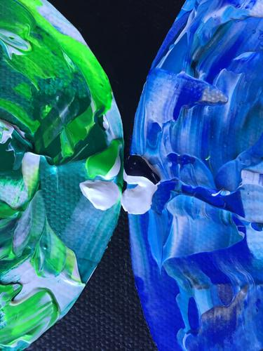 Where There is Love - Diversity is Celebrated - Close up of Green/Blue