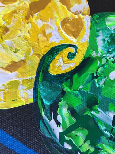 Where There is Love - Diversity is Celebrated - Close up of Yellow/Green