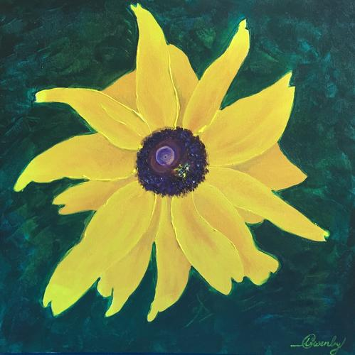 Blackeyed Susan (20x20x1.5 inches) Acrylic on Canvas 2017