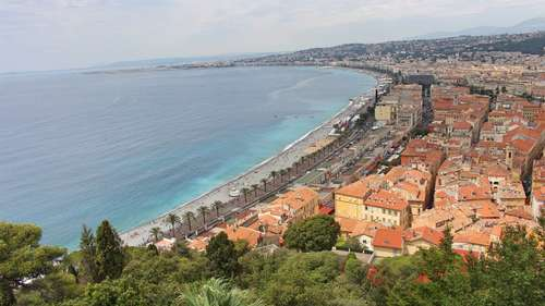 View from Nice Castle Hill - Nice, France