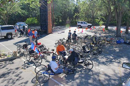 Handcycle event - American River Parkway