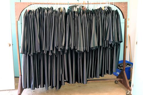Graduation gowns - all pressed and ready to go!
