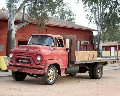 This old truck reminds me of Mater from Cars