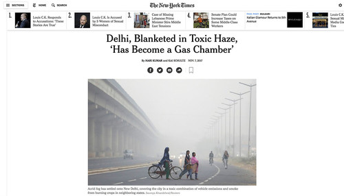Delhi smog and pollution