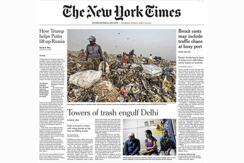 Towers of trash engulf Delhi