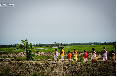 Red River turns Black in Assam