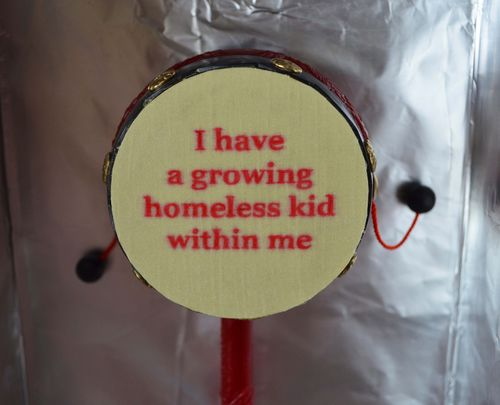 I have a growing homeless kid within me (detail)