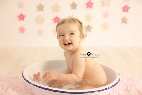 Stunning 1st birthday cake smash baby photography covering Wirral, Cheshire, Liverpool & Chester