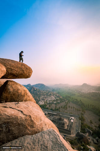 Sunrise at Matanga Hill, Hampi